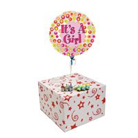 Gifts ITS A GIRLS COLOURFUL DOTS-GIFT BOXED-FREE PARTY POPPERS & BLOW HORNS