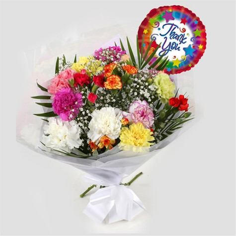 Thank You Balloon & Lollipop Star Bouquet-FREE DELIVERY