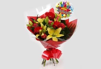 Birthday Balloon & Emporium Bouquet - FREE DELIVERY