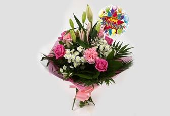 Birthday Balloon & Strawberry Sundae Bouquet - FREE DELIVERY