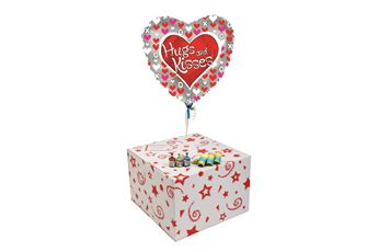 HUGS AND KISSES-GIFT BOXED-FREE PARTY POPPERS & BLOW HORNS