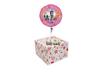PINK PRINCESS BIRTHDAY-GIFT BOXED-FREE PARTY POPPERS & BLOW HORNS