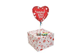 SOMEBODY LOVES YOU-GIFT BOXED-FREE PARTY POPPERS & BLOW HORNS