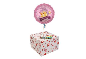 BIRTHDAY CROWN PRINCESS-GIFT BOXED-FREE PARTY POPPERS & BLOW HORNS