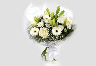 White Petite Bouquet-Clear Savings-Clear Prices-FREE DELIVERY