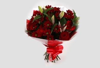 Red Rapture Bouquet - FREE DELIVERY