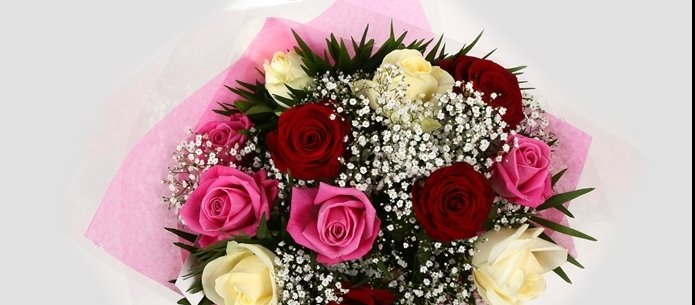 Sweet Melody Roses With Gypsophila - FREE DELIVERY-Clear Savings-Clear Prices-Compare The Quaility
