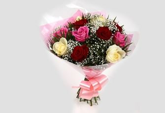 Sweet Melody Roses With Gypsophila - FREE DELIVERY