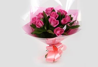 12 Pink Roses Bouquet-Clear Savings-Clear Prices-FREE DELIVERY