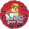 alternative image for FEEL BETTER SOON BULLDOG-GIFT BOXED-FREE PARTY POPPERS & BLOW HORNS