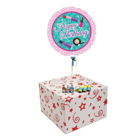 SPARKE SPA HAPPY BIRTHDAY-GIFT BOXED-FREE PARTY POPPERS & BLOW HORNS