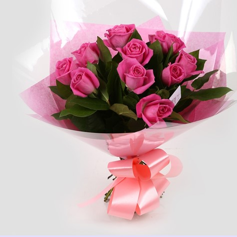 12 Pink Roses-Clear Savings-Clear Prices-FREE DELIVERY