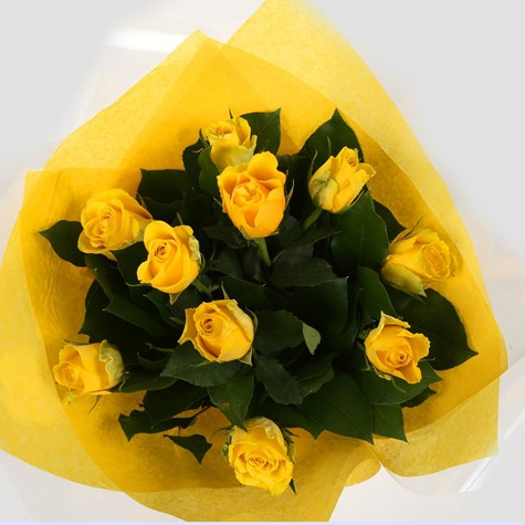 alternative image for 12 Yellow Roses Bouquet-Clear Savings-Clear Prices-FREE DELIVERY ...