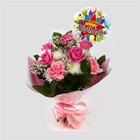 Birthday Balloon & Strawberry Pink Blush - FREE DELIVERY-Clear Savings-Clear Prices-Compare The Quaility