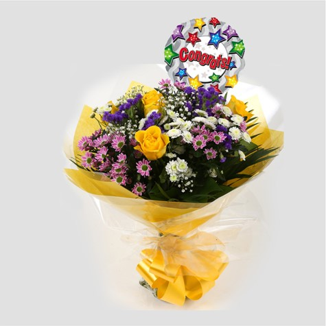 Congrats Balloon & Charm Bouquet