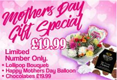 Lollipop Bouquet-Mothers Day Balloon-Chocolates  FREE DELIVERY