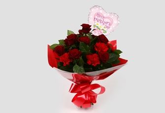 Mothers Day Balloon & Heart Special Bouquet - FREE DELIVERY