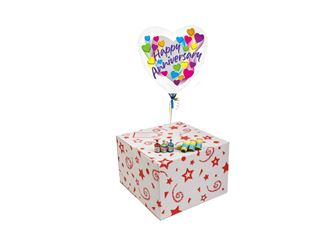 ANNIVERSARY SHOOTING STARS-GIFT BOXED-FREE PARTY POPPERS & BLOW HORNS