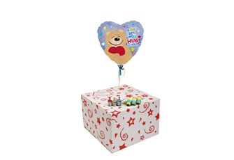 GET WELL HUG-GIFT BOXED-FREE PARTY POPPERS & BLOW HORNS