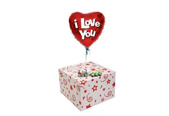 I LOVE YOU-GIFT BOXED-FREE PARTY POPPERS & BLOW HORNS