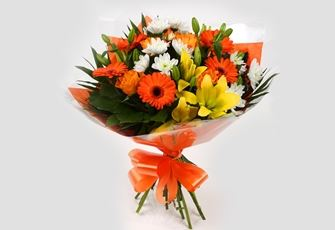 Orange Burst Bouquet-Clear Savings-Clear Prices