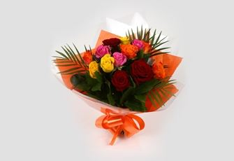 12 Beautiful Roses-OFFER ONLY 2 DAYS! Clear Savings-Clear Prices-FREE DELIVERY