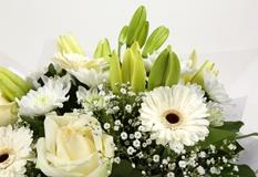 White Petite Bouquet-Clear Savings-Clear Prices