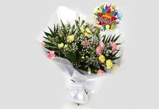 Birthday Balloon & Joyful Bouquet-Clear Savings
