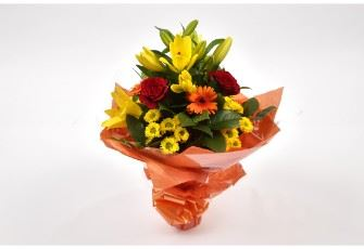 Sunshine Orange Bouquet-Free Delivery