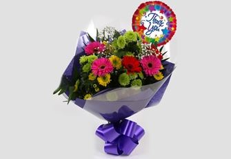 Thank You Balloon & Elegance Bouquet - FREE DELIVERY