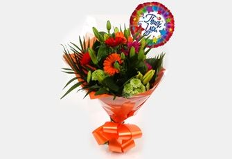 Thank You Balloon & Vibrant Star - FREE DELIVERY