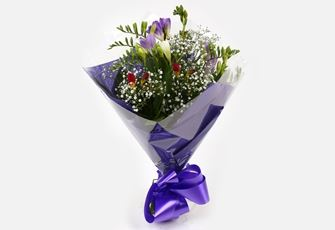 Freesias & Gypsophila Bouquet-Clear Savings-Clear Prices