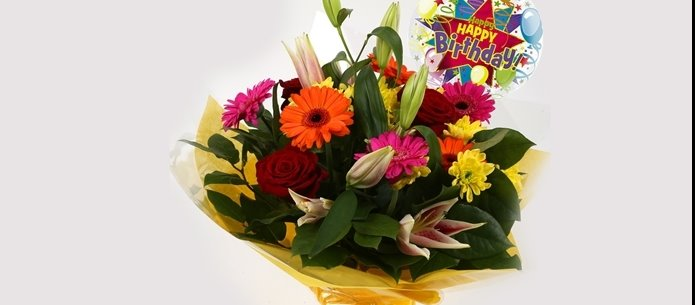 Birthday Balloon & Jubilation Bouquet-FREE DELIVERY