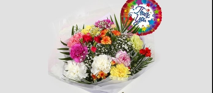 Thank You Balloon & Lollipop Star Bouquet - FREE DELIVERY