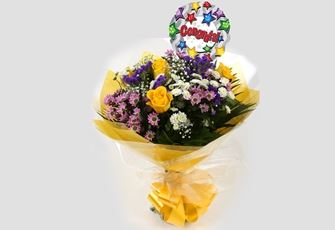 Congrats Balloon & Charm Bouquet - FREE DELIVERY